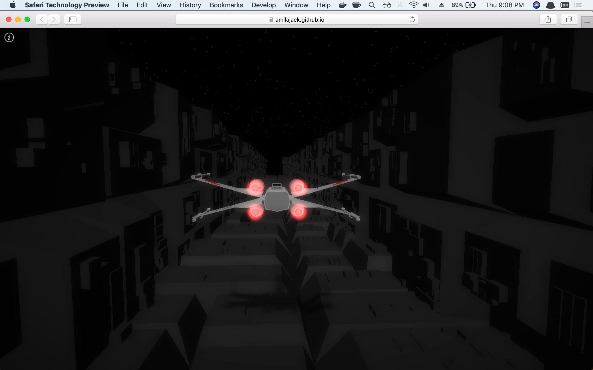 xwing - A Star Wars WebGL Game Built with Three.JS